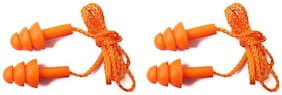 Vezual Reusable Corded Noise Reduction Ear Plug (Pack of 2)