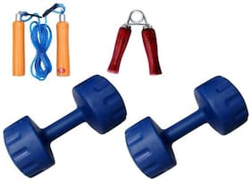 VIGOURZONE 2 X 2KG PVC DUMBELLS WITH ACCESSORIES