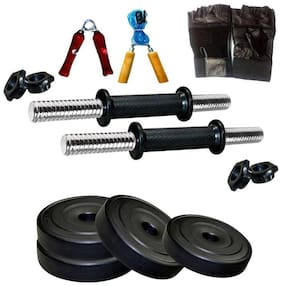 VIGOURZONE 8 kg. ADJUSTABLE HOME GYM DUMBELLS WITH ACCESSORIES