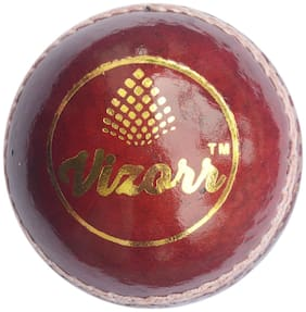 Vizorr 2 Piece Leather Cricket Ball Cricket Leather Ball  (Pack of 1, Red)