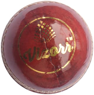 Vizorr 4 Piece Leather Cricket Ball Cricket Leather Ball  (Pack of 1, Red)