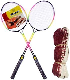 Vizorr Badminton Racer Combo & Badminton Net