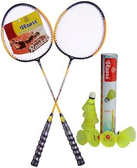 Vizorr Badminton Racquet 20-20 & Shuttlecock Nylon 006 (10pcs)