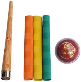 Vizorr Multi Leather Cricket Bat grip & Cone grip - Set of 5