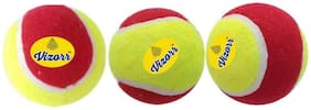 Vizorr Heavyweight 50 Over Multicolor Tennis ball (Pack of 3)