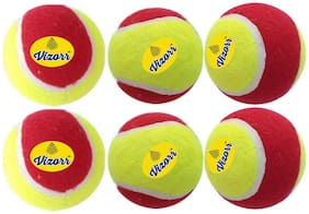 Vizorr Heavyweight 50 Over Multicolor Tennis ball (Pack of 6)
