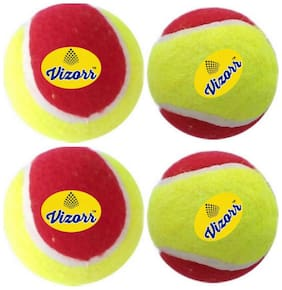 Vizorr heavyweight 50 over multicolor tennis ball (Pack of 4)