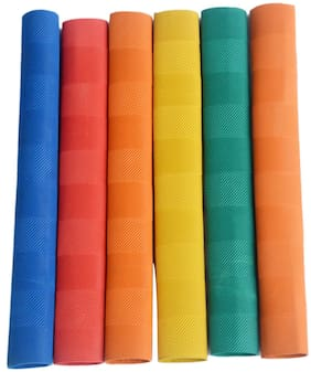 Vizorr Quality Chevron Bat grip (Multi-colour,Pack of 6)