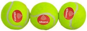 Vizorr Heavy Weight 50 over Rubber Tennis Ball (Green) (Pack of 3) Cricket Tennis Ball  (Pack of 3, Green)