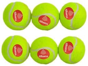Vizorr Heavy weight 50 over Rubber Tennis Ball (Green) (Pack of 6) Cricket Tennis Ball  (Pack of 6, Green)