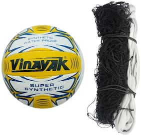 Vizorr Vinayak Classic Volleyball and nylon Volleyball net (Pack of 2)