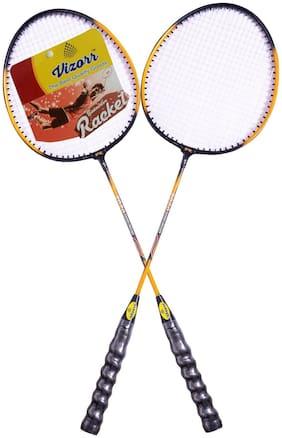 Vizorr_20-20 Professional Badminton Racquet for fitness Lovers multicolor badminton racquet
