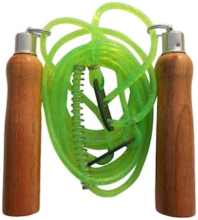 VSI Unisex Adjestable Skiping Rope with Wooden Handle