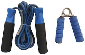 VSI Unisex Non Adjestable PVC Handle Skiping Rope And Form Hand Gripper