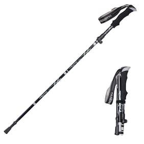 Walking Trekking Stick Pole Folding Defense Stick Screwdriver Kit Multi Function