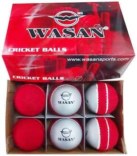 Wasan 2 tone/Swing Sting Cricket Ball - (Pack of 6)
