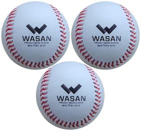 Wasan White M Baseball ball - Set of 3
