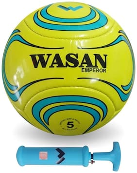 Wasan Emperor Football Size 5 with Pump-Yellow