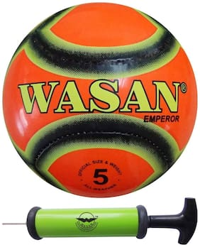 Wasan Emperor Football Size 5 Orange (12 years and above)