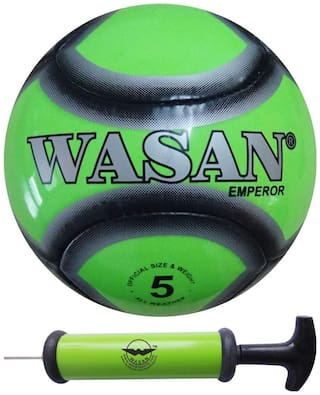 Wasan Emperor Football Size 5 Green with Free Pump