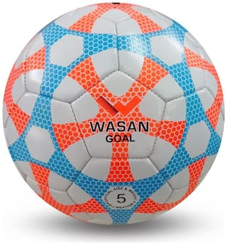 Wasan Goal Football for Kids Upto 12 Years to Play at Home/Garden - White,Size 5
