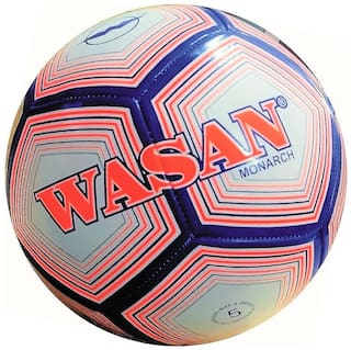 Wasan Monarch Football Size 5 White -12 Years and Above