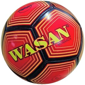 Wasan Monarch Football Size 5 Red -12 Years and Above