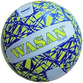 Wasan Premier Volleyball Yellow/Blue Standard Size  (12 Yrs and Above)
