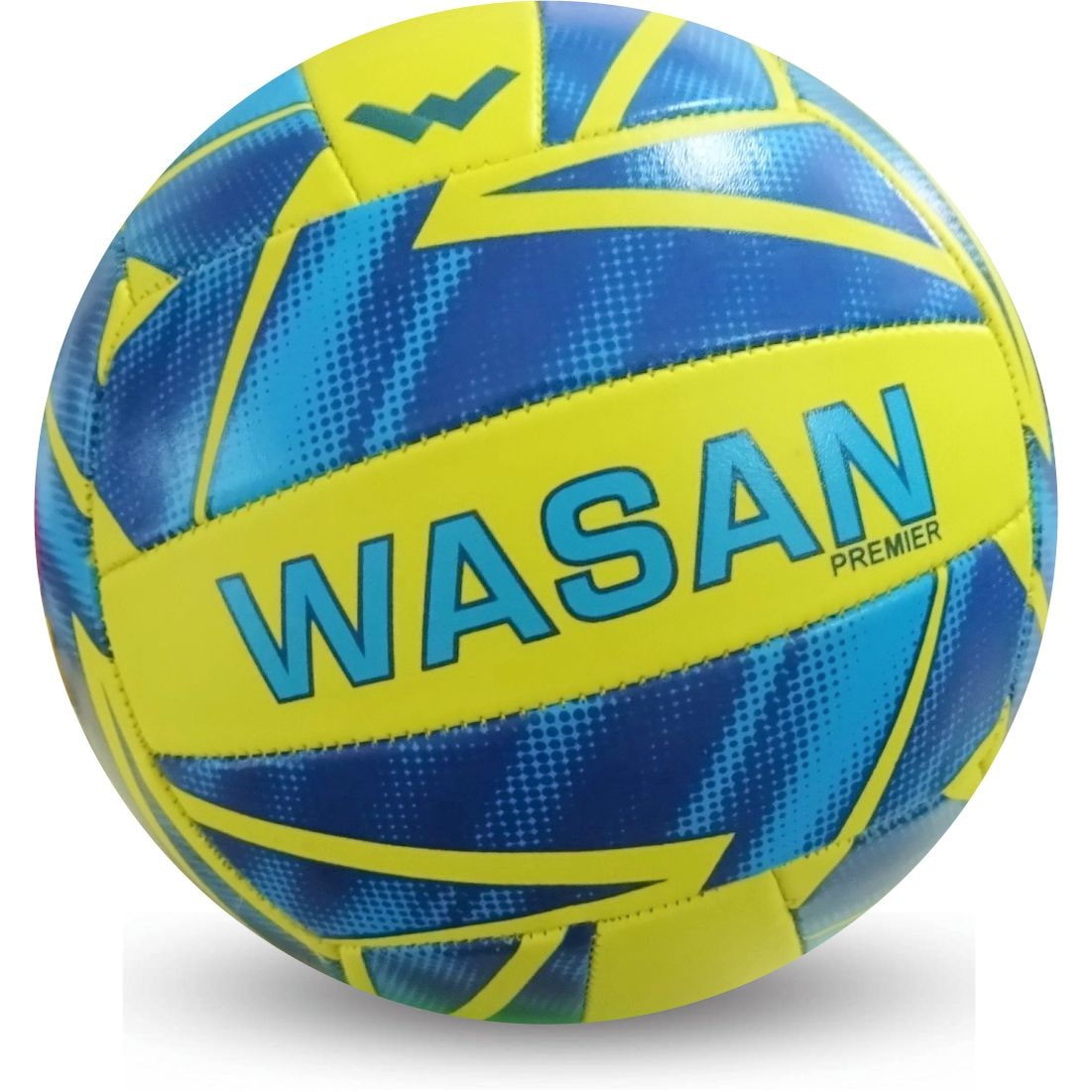 Wasan Premier Volleyball Yellow/Blue Standard Size  12 Yrs and Above  by Wasan Exports