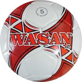 Wasan Pro Football Size 5 White with Pump (12 years and above)