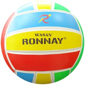 Wasan Ronnay Volleyball Multicolour Size 5 -12 Years and Above