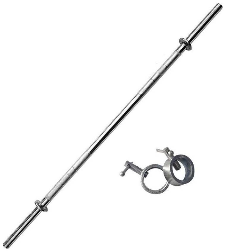 Wish 3 ft STRAIGHT ROD + 2 LOCKS FOR HOME GYM EXERCISES WEIGHT LIftING BAR by Solutions