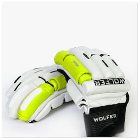 Wolfer Player Edition Cricket Batting Gloves -Right Handed, XL, Green