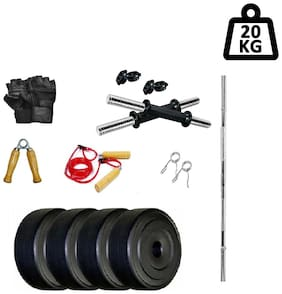 WOLPHY 20 kg HOME GYM SET WITH STRAIGHT ROD
