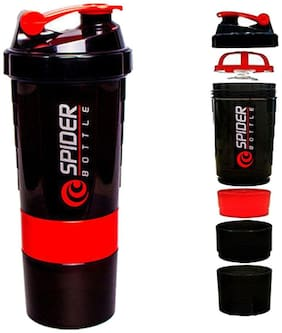 Worthy Shoppee Red Spider Protein Shaker Bottle For Gym - 500ml