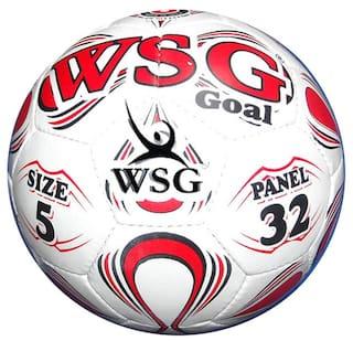Wsg Goal Football-Multicolor (Size-5)