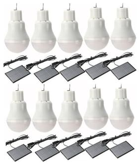 X10 Rechargeable Solar Panel Powered Led Bulb Lamp Home Camping Emergency Light