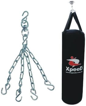 Xpeed Boxing / Punching Bag Filled in Carbonium Leather in 48 inch (4 ft Long)