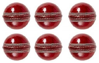 Xprospo Genuine Leather Cricket Balls (Pack of 6)