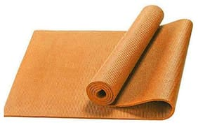 GTC Premium Quality Yoga Mat PVC Yoga Mat for Exercise and Meditation (173 x 61 Cm ) (4 MM, Orange)
