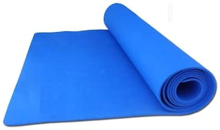Marketwala Yoga Mat Yoga Exercise with 4mm Thickness and  Anti-Slip for Men & Women (1Pc) Blue