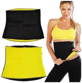 YORA Fabric Slim belt ( M   Black )