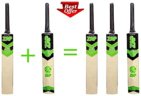 ZAP Tennis Cricket bat(Buy 2 get 1 FREE)-Size-4
