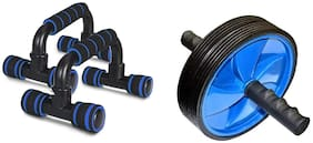 ZINOM Ab Wheel Roller and Pushup bar Combo Pack of 2