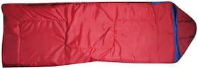 ZVR 4 In 1 Reversible Cum Quilt SleekK Sleeping Bag  (Red)