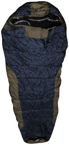 ZVR Bag With Woolen Inner And Cap Sleeping Bag  (Blue)
