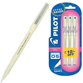 (Pack of 2)Pilot Hi-Techpoint 05 Super Value(Pack of 3 Blue Pen)