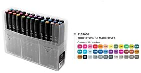 Touch Twin Markers (Set Of 36 Assorted Colors)