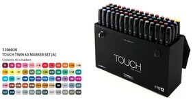 Touch Twin Markers - A (Set Of 60 Assorted Colors)