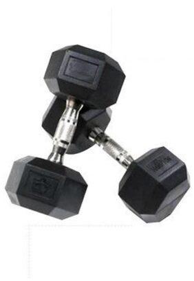 TTC Fitness Hexagonal Dumbbell-10 Kg (5 Kg Each)